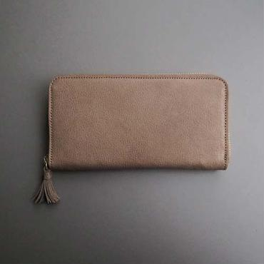 tassel zip long wallet (gray)