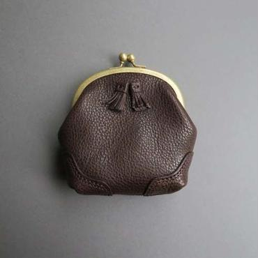 tassel mini pouch (dark brown)