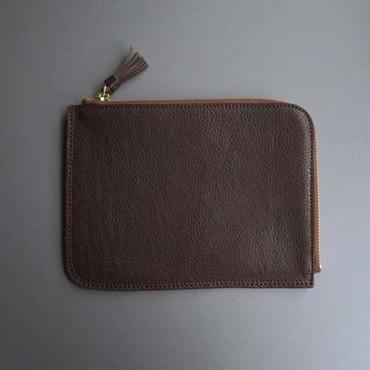 tassel flat case M (dark brown)