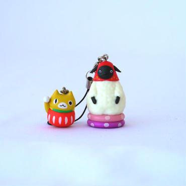 ダブルストラップ(マチコとネコダルマ)