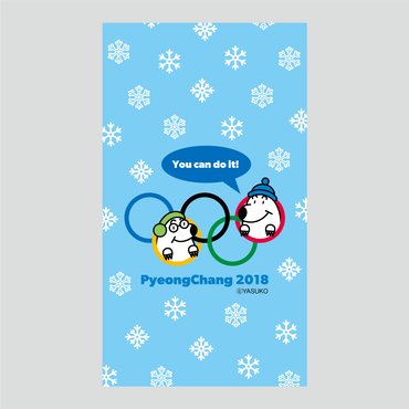 【PyeongChang 2018(応援vol.2)】(Blue Ver.) スマホ用壁紙(1080×1920)