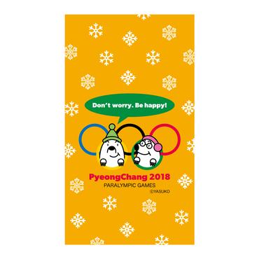 【PyeongChang 2018 Paralympics】(Orange Ver.) スマホ用壁紙(1080×1920)