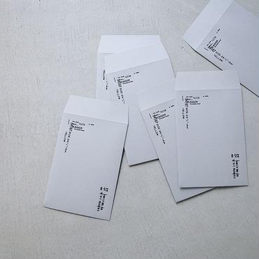 活版の封筒  /  クロ