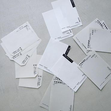 いろいろな紙のメモセット  /  クロ