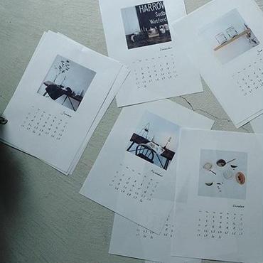 【受注】2018 calendar /古材台紙 差替用