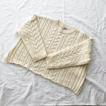 loose  cable sweater (ivory) ※こちらの商品は1月10〜14日の発送となります。