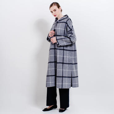 hooded river coat (graycheck)