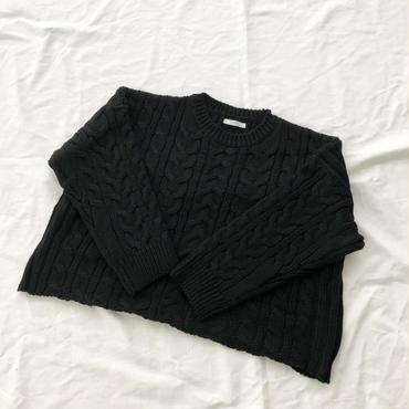 loose  cable sweater (black) ※こちらの商品は1月10〜14日の発送となります。