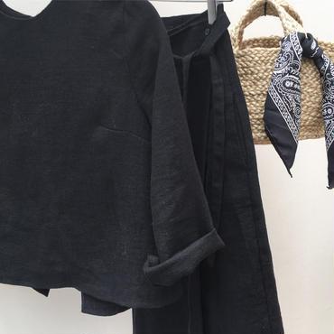 cotton linen set up (black)