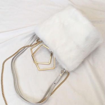 fluffy mink (white)