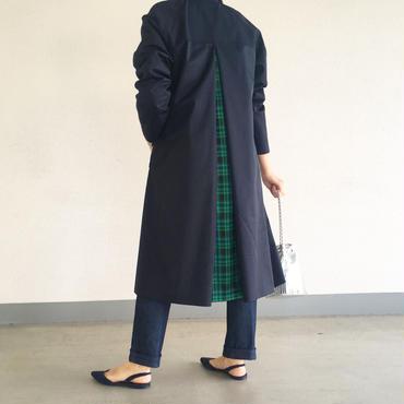 a line twil coat (navy)