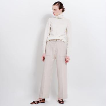 high waist wool wide pants (ivory)