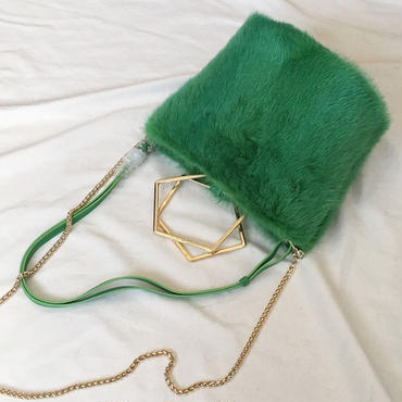 fluffy mink (green)