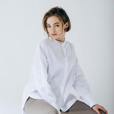 boxy slit shirt (cotton)
