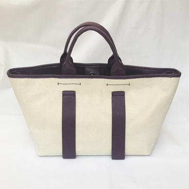 city tote (purple×ivory)