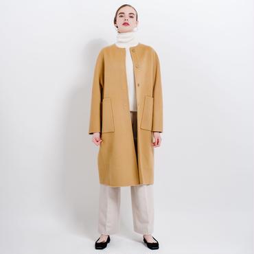 no color cocoon coat (camel)