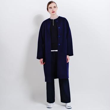 no color cocoon coat (navy)