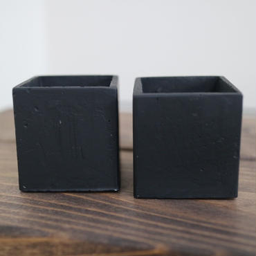小さな小さなコンクリートBlackポット