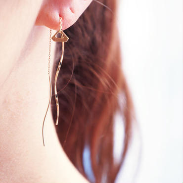 【K10 】 wave pierce ・by YouuumuJewelry*
