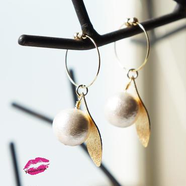 ダイヤモンドダスト leaf earring