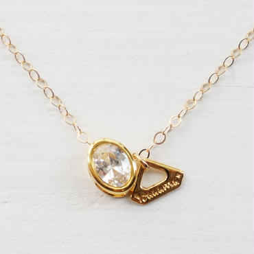 K14gf oval cut Qz necklace ♥