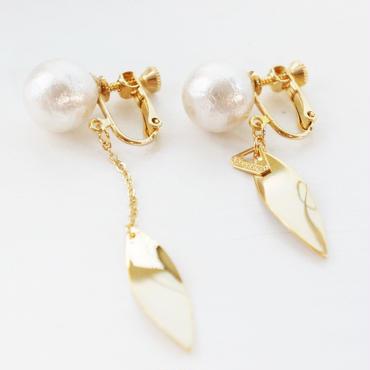 leaf plate earring