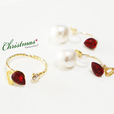 ★X'mas SET★ ring×earring