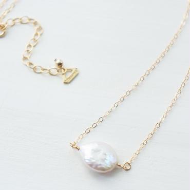 K14gf しずく淡水パール necklace