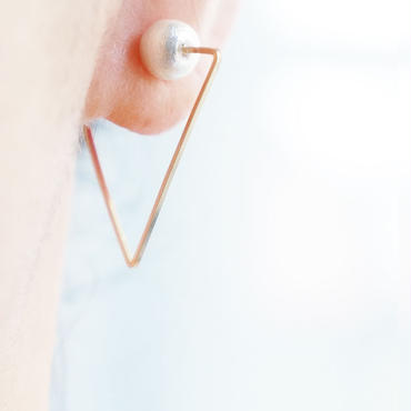 K14gf triangle イヤリング (S)