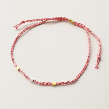 シルクコード×K24ヴェルメイユ bracelet PK