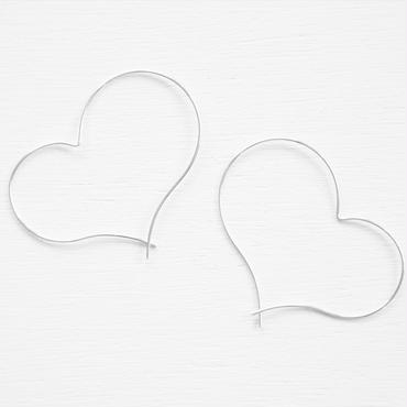 silver930 happy heart pierce L