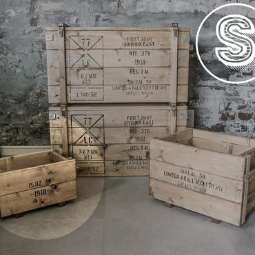 コンテナボックス風木箱Sサイズ(A5ポスター付き)