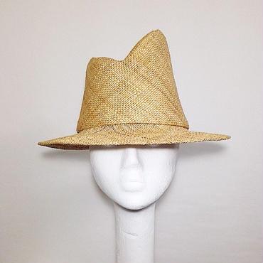 STRAW ASYMMETRY HAT