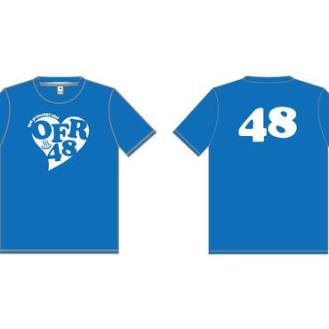 【ラブTシャツ】おふろアイドル・OFR48オリジナル青Tシャツ