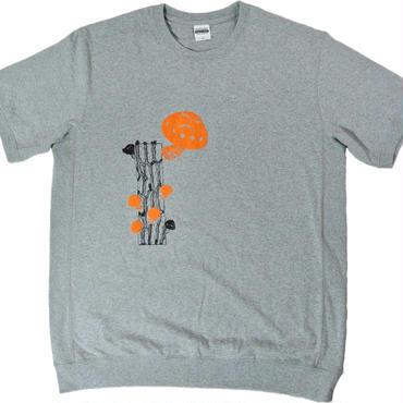 きのこのスウェット風Tシャツ(サイズXL)