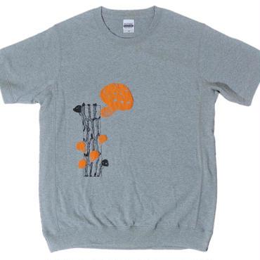 きのこのスウェット風Tシャツ(サイズM)