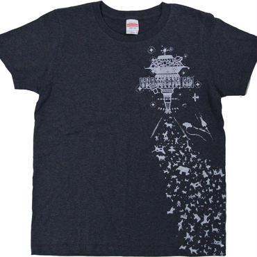 ハッピーアブダクションTシャツ ヘザーネイビー レディース