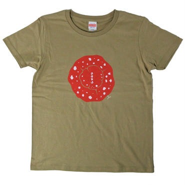 毒きのこトップビューTシャツ レディース