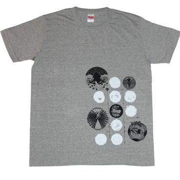 タカトラバッタシャチクジャクTシャツ メンズ