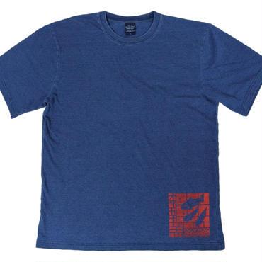 おサカナ魚デニム風Tシャツ(色薄め) メンズ