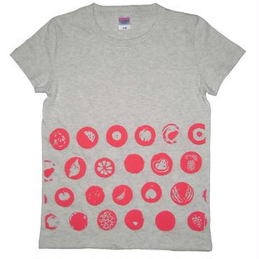 果実水玉Tシャツ レディース