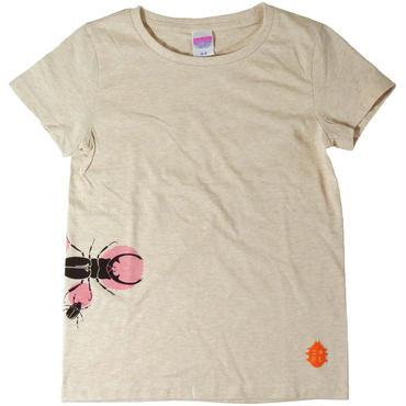 樹液に集まる虫達Tシャツ レディース