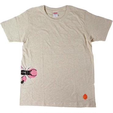 樹液に集まる虫達Tシャツ メンズ