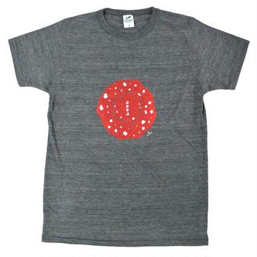 毒きのこトップビューTシャツ  メンズ