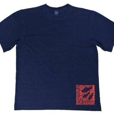 おサカナ魚デニム風Tシャツ メンズ