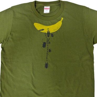 バナナ虫Tシャツ メンズ