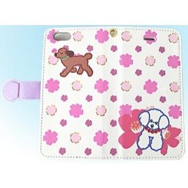 桜POP・手帳型スマホケース *iphone6/6s、iphone7/8対応