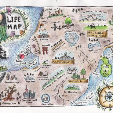 ポストカード 「LIFE MAP」