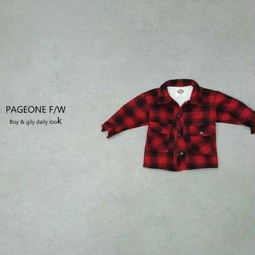 ボアネルシャツ RED