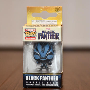 FUNKO POP!  BLACK PANTHER Armor Upgrade ミニフィギュアキーホルダー